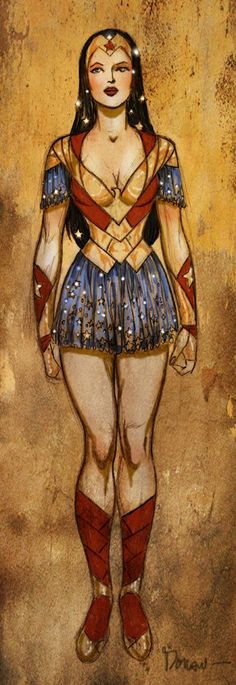 Wonder Woman fantasy-oriented concept sketch by Colleen Doran
