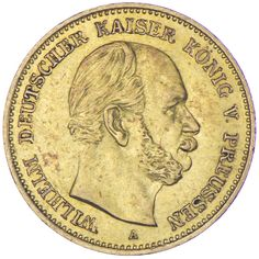Preussen, Wilhelm I. 1861 - 1888 Gold 5 Mark 1877 A
