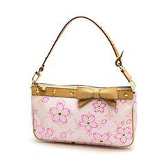 Louis Vuitton Pochette Accessoires Monogram Cherry Blossom Small bags Pink Canvas M92007