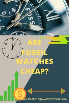Are Fossil Watches Cheap? How about we investigate the Fossil brand and the nature of their watches more closely. These watches tend to be elegant, with clean designs and accessories. #fossilwatches #menswathes #cheapwatches #luxury #mensfashion #watches #wristwatches #fossil #classy #affordable #unique #collection #inexpensive #style #swisswatch #diverwatches Best Cheap Watches, Cool Watches, Watches For Men, Fossil Watches, Wristwatches, Clean Design, Projects To Try, Classy, Mens Fashion