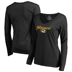 Missouri Tigers Fanatics Branded Women's Freehand Long Sleeve T-Shirt - Black