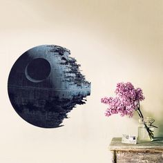 US $1.99 -- AliExpress.com Product - Removable Death Star 3D Wall Stickers for Kids Rooms Star Wars Wall Decal Nursery Room Home Decor Art Clone