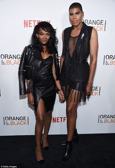 Double trouble: EJ and Elisa Johnson coordinate ensembles at the Orange is the New Black premiere in June