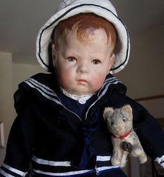 Alte Käthe Kruse Puppe I , Stoffkopf, ca 43 cm,breite Hüften, Top erhaltung***! in Antiquitäten & Kunst, Antikspielzeug, Puppen & Zubehör   eBay!