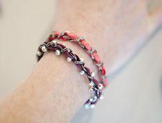 ribbon/chain bracelets
