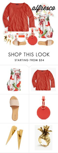"""Alfresco"" by musicfriend1 ❤ liked on Polyvore featuring Calypso St. Barth, J.Crew, Hinge, Tara Zadeh, Ann Taylor, Maybelline, lovethis, linen and alfrescodining"