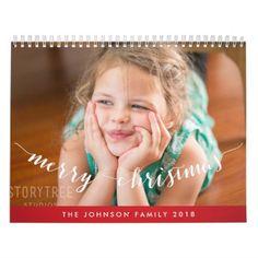 Cute Personalized Calendars 2018 Merry Christmas - merry christmas diy xmas present gift idea family holidays