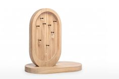 Jewelry stand Monolith / design: Lenka Damová & Boris Klimek / www. Jewelry Stand, Wood Design, Shapes, Chair, Furniture, Appliance, Home Decor, Natural, Decoration Home