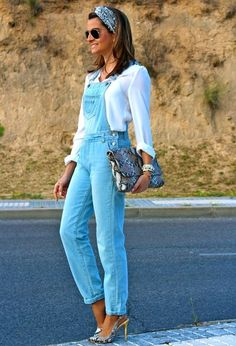 Look by @ohmylooks with #primark #casual #mono #camisa #jeans #heels #jumpsuits #streetstyle #white #overalls #blue #bags #sunglasses #dungarees #shirts #salopette #outfit #rayban #serpiente #outfits #pilarburgos #estampado #look #jewelry #looks #whiteshirts.