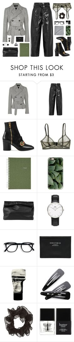 """""""men may be stronger, but it is women who endure"""" by yuelle ❤ liked on Polyvore featuring McQ by Alexander McQueen, Valentino, Gucci, Bodas, Mead, Casetify, Marie Turnor, Acne Studios, Aesop and Butter London"""