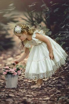 That Darling Dress by Irina Chernousova on Little Girl Dresses, Little Girls, Flower Girl Dresses, Foto Art, Beautiful Children, Little Princess, Baby Pictures, Children Photography, Little Girl Photography