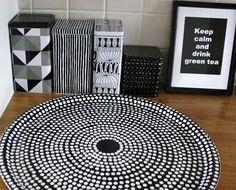 Marimekko Focus tray Sharpie Plates, Keep Calm And Drink, Eclectic Kitchen, Marimekko, Kitchen Inspiration, Scandinavian Design, Cool Kitchens, Finland, Trays