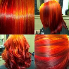 i see your true colors shining thru! в 2019 Dyed Natural Hair, Dyed Hair, Natural Hair Styles, Short Hair Styles, Red Hair Color, Cool Hair Color, Hair Colors, Flame Hair, Sunset Hair