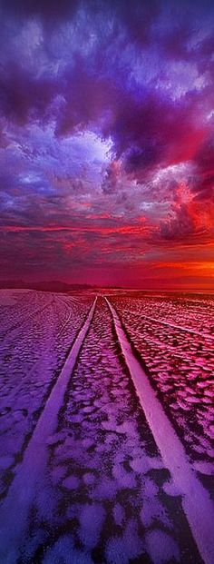 To All Ends Of The World #photo by  Phil~Koch #purple red violett landscape amazing nature sky perspective