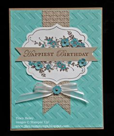 Stampin Up Happy Birthday elegant handmade card by thenry8300