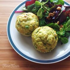 Scallions and goat cheese muffins on Food-Tuner.com