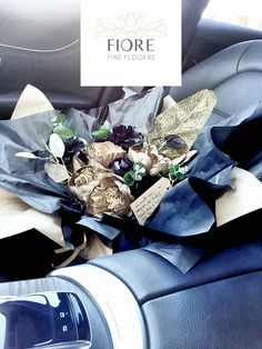 Artificial Flowers . Special delivery. Flowers in my car. Fiore Fine Flowers . Beautiful Flowers And great Events . Happy day. Happy girl. Happy birthday !