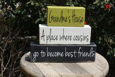 Grandma's house Word Block Set