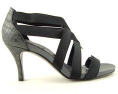 DONALD J PLINER ARMINA 6 Black Elastic Womens Designer Shoes Strappy Pumps 9.5 #DonaldJPliner #HeelsPumps