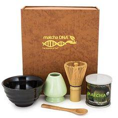Matcha Tea Gift Box Set - Matcha Tea Ceremony Gift Set (Brown)