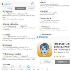 HeadApp L'App per il tuo mal di testa! Ecco cosa dicono di noi, provare per credere! ScaricaSubito