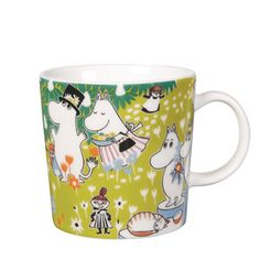The adorable Tove 100 moomin mug 2014 from Finnish Arabia is a tribute to the famous author and illustrator Tove Jansson. In 2014 the the moomin charachters mother would have turned 100 years and the jubilee mug has its inspiration from Tove Janssons book Moomin Shop, Moomin Mugs, Tove Jansson, My Collection, Finland, The Book, Original Artwork, Anniversary, Pottery
