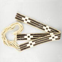 Wampum Belt/Strap - Translucent Purple & Ivory
