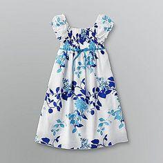 Girl's Floral Print Cotton Dress