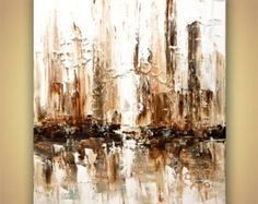 Original Large Contemporary Abstract Painting by OsnatFineArt