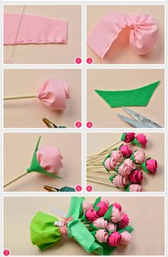 DIY Stoffblumen # Beebeecraft idea on hot to make a bouquet for Mother's Day Tomatoes: Felt Flower Bouquet, Felt Flowers, Diy Flowers, Fabric Flowers, Paper Flowers Craft, Large Paper Flowers, Flower Crafts, Felt Flower Template, Felt Flower Tutorial