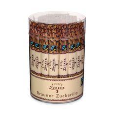 Wiener Brauner Zuckerillo. Der goldbraune Rohrzucker, mit seinem feinmalzigen, exotischen Geschmack, gefüllt in praktischen Portionspackungen - den Sticks - eignet sich zur geschmacklichen Verfeinerung von Tee, Kaffee und vielen anderen köstlich heißen Getränken.