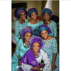 Nigerian wedding ore-iyawo peach and blue lace and velvet aso-ebi Akintayo timi Turban, Nigerian Traditional Wedding, Nigerian Weddings, African Weddings, Nigerian Bride, Aso Ebi Styles, Blue Lace, African Fashion, African Beauty