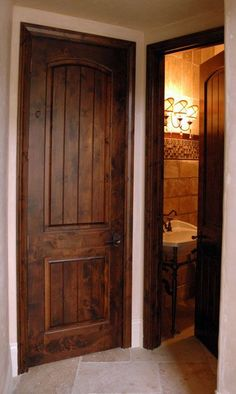 Knotty Alder Interior Doors with a pretty, darker stain color