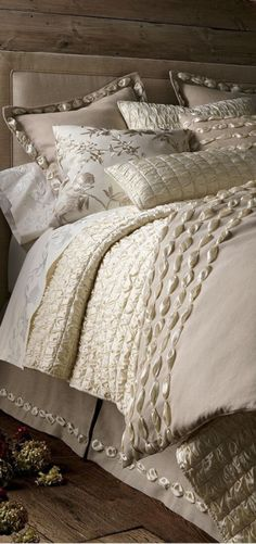 Shop luxury bedding sets and bedding collections at Horchow. Browse our incredible selection of full, queen, and king size luxury bedding sets. Bedroom Bed, Dream Bedroom, Master Bedroom, Bedroom Decor, Bedroom Ideas, Master Suite, Bedroom Layouts, Bedroom Styles, Luxury Bedding Sets