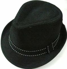 """Summer Fashion Girl Lady Sun Fedora Hats - Black, Brown by AMC. $14.99. Color: Black, Brown. L/XL: 23.2"""" (59cm). S/M: 21.4"""" (57cm). 100% Brand New. Style: Fedora With Contrast Stitches on Band. Description:Style: Fedora With Contrast Stitches on BandColor: Black, BrownS/M: 21.4"""" (57cm) L/XL: 23.2"""" (59cm) 100% Brand New"""