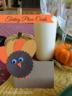 DIY Easy Turkey Place Cards for Your Thanksgiving Table |my scraps