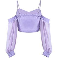 Purple Spaghetti Strap Off the Shoulder Crop Top ❤ liked on Polyvore featuring tops, crop top, off-shoulder crop tops, off the shoulder crop top, cut-out crop tops, off the shoulder tops and purple top