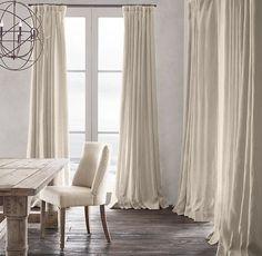 belgian heavyweight textured linen drapery item size 84 x 50