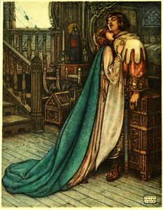 Maurice Lalau (1881-1961), Illustration for 'The Romance of Tristram and Iseult', 1910 (Frontispiece: Tristram and Iseult)