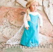 "FREE PATTERN for Elsa Doll Dress 18"" doll"