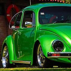 Visit The MACHINE Shop Café... ❤ Best of VW @ MACHINE ❤ (Irridecent Green Volkswagen Bug)