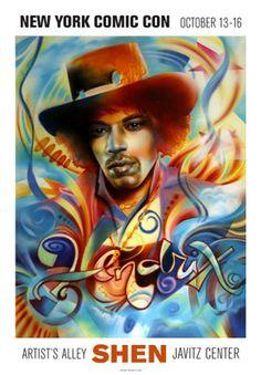 Hendrix Art Print by Shen
