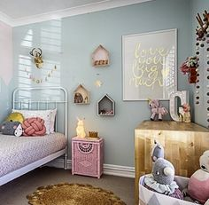 Room inspiration: Bedroom by little dwellings, print by Laura Blythman