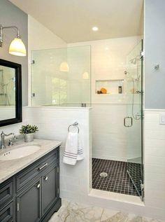 17 best half wall shower images | bathroom, bathroom