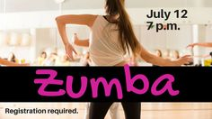 Have fun and get in shape during this Latin-inspired cardio-dance workout. Instructor Dana Trampas will have you feeling the rhythm and the heat, so wear comfortable clothes and bring a water bottle. Attendees must sign a waiver to participate; those under 18 will need the signature of a parent or guardian.