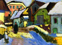 """Farmyard in Snow"", 1911, Gabrielle Münter."