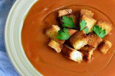 Supa crema de legume - CAIETUL CU RETETE Supe, Thai Red Curry, Chicken, Meat, Ethnic Recipes, Kitchen, Food, Cooking, Eten
