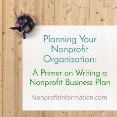 Starting a 501c3 - How to write a non profit business plan