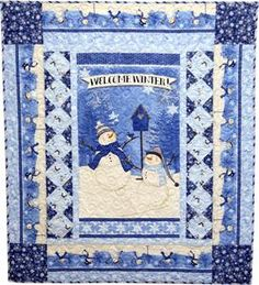 Welcome Winter Quilt Kit Welcome Winter, Snowman Quilt, Winter Quilts, Quilt Sizes, Coordinating Fabrics, Pattern, Quilting, Patterns, Fat Quarters