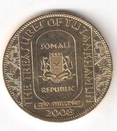 Moeda de Prata banhada a ouro de 250 Shillings - Somáli..